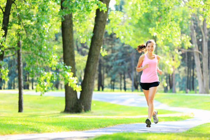 mujer correr footing